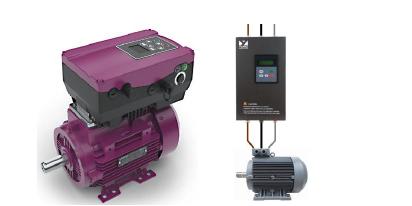 Şekil 2: Sürücünün Konumlandırma Şekillerine Örnekler (Motora doğrudan akuple edilen VFD ve motora kablo, klemensle bağlantılı olan VFD)